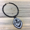 Black Beaded Silicone Tribal Guam Hanging Car Pendant