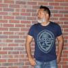 Tribal Guam Seal Navy Blue Triblend T-Shirt