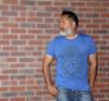 Tribal Guam Seal Royal Blue Triblend T-Shirt