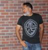 Tribal Guam Seal Charcoal Black Triblend T-Shirt