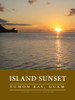 Island Sunset - Tumon Bay, Guam - Fine-Art Poster Illustration