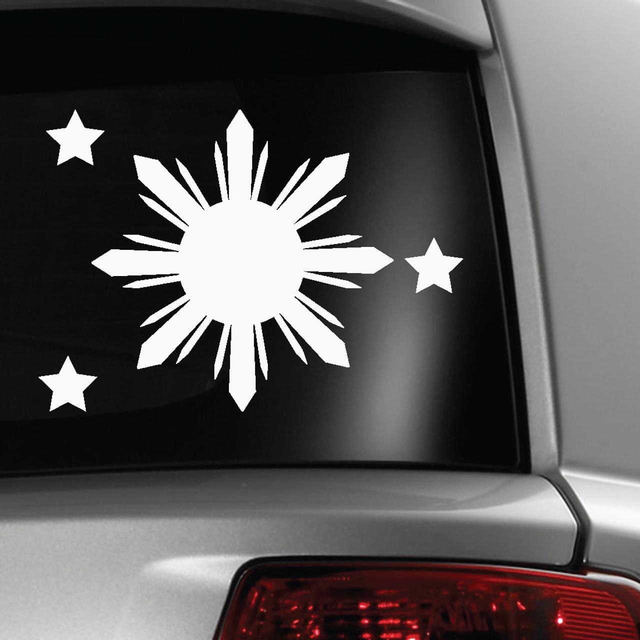 Car sticker design philippines - Philippine Flag Symbol Sticker Decal