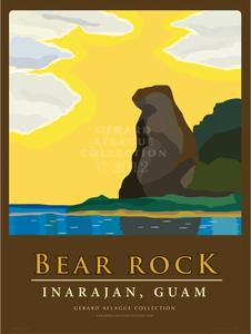 Bear Rock - Guam - 18x24 Illustration