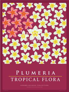 Plumeria - Tropical Flora - 18x24 Illustration