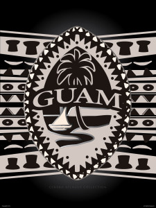 Tribal Modern Guam Seal Fine-Art Poster Illustration - 18x24