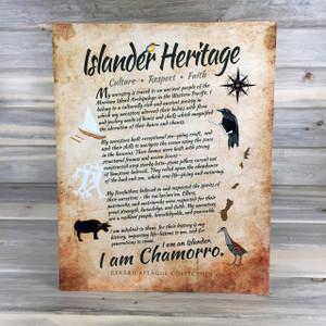 Islander Chamorro Heritage Guam CNMI Metal Art - 16x20