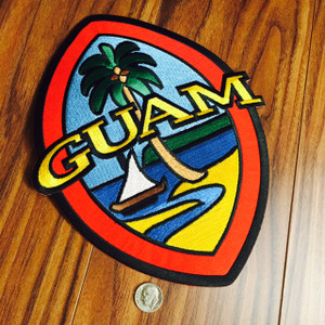 Mega-Sized Modern Guam Seal 9 Inch Twill Patch