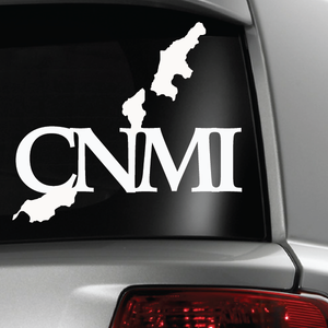 CNMI Map White Sticker Decal 6x6
