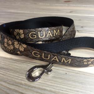 Guam Brown Hibiscus Dog Leash