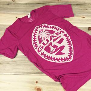 Light-Weight Guam Tribal Seal Ladies Berry Soft T-Shirt