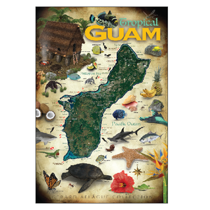 Large Tropical Guam Postcards - 9x6 inches