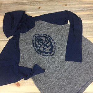 Blue Gray Tribal Guam Seal Hoodie