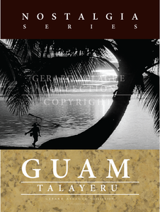 The photograph in this poster is of a beach in Guam.