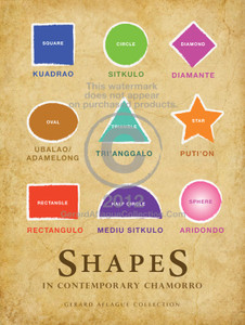 Shapes Poster in Chamorro Language - Guam/CNMI/Saipan/Tinian/Rota