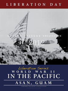 This poster called Liberation Day (on Guam) is part of a five liberation series poster set. It can be purchased alone or would make a wonderful series to display together to tell the story of the war in the Pacific and how it affected the Mariana Islands of Guam and the CNMI. This image captures Marine soldiers staking the first United States flag on the shores of Asan beach, Guam.