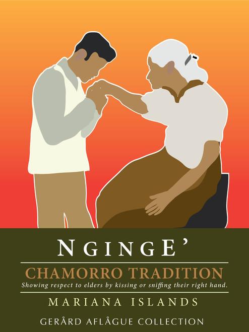 Nginge - Chamorro Tradition of Showing Respect to Elders - Fine-Art Illustration