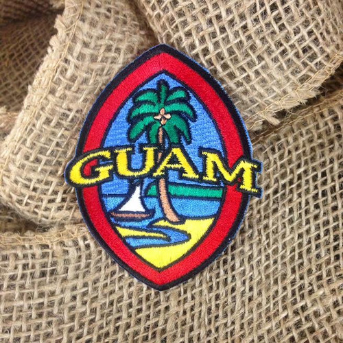 "Modern Guam Seal© Patch - 3.25"" tall x 2.5"" wide"
