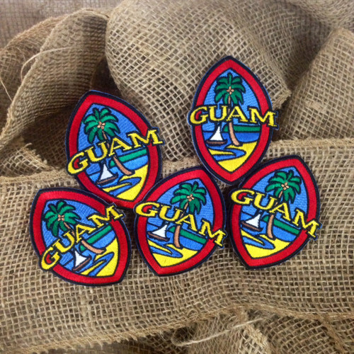 Embroidered Modern Guam Seal Patches - 5 Piece Set