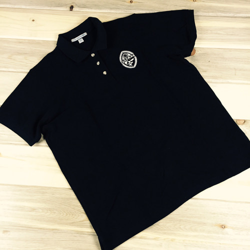 Ladies' Embroidered Tribal Guam Seal Pique Knit Black Polo