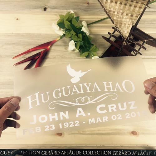Hu Guaiya Hao Custom Memorial Decal