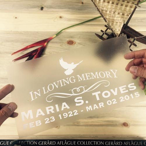 In Loving Memory Memorial Sticker Decal