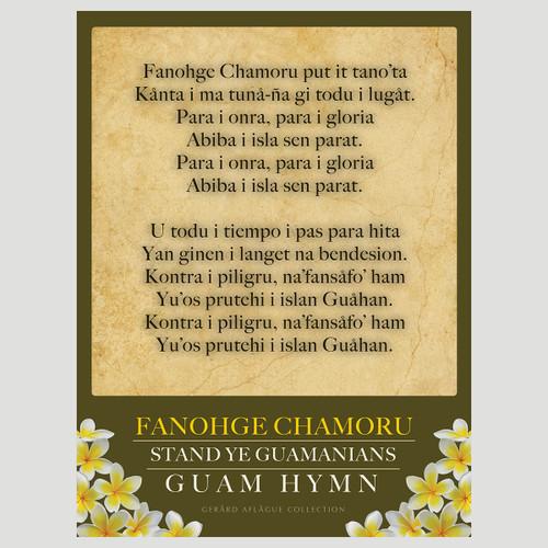 Fanohge Chamoru - Guam Hymn Poster - 18x24