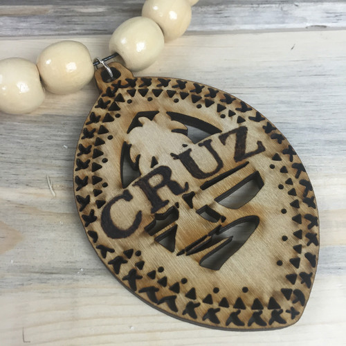 Personalized Tribal Guam Seal Mixed Bead Hanging Decor