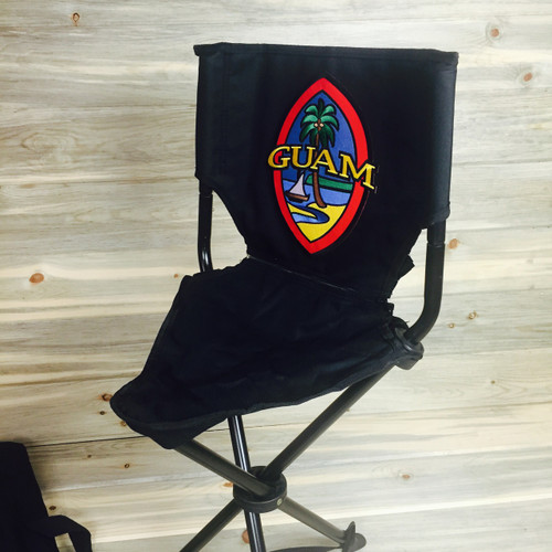 Modern Guam Seal Embroidered Stool