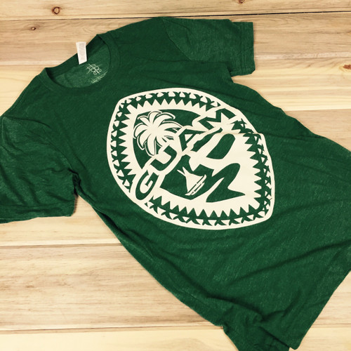 Guam Tribal Seal Unisex Green Soft T-Shirt