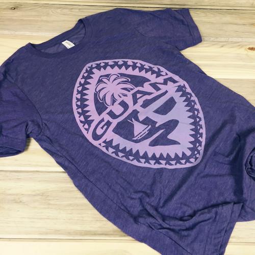 Light-Weight Guam Tribal Seal Ladies Purple Soft T-Shirt