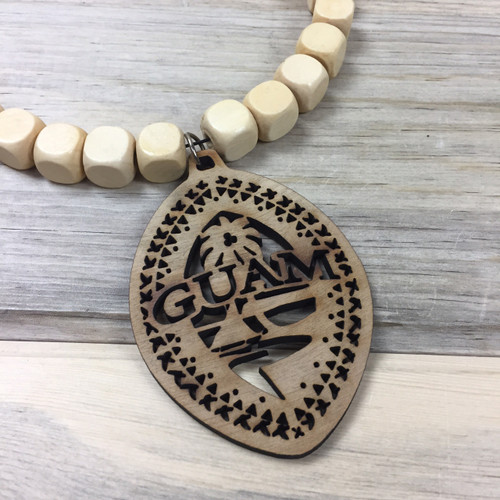 Square Wood Bead Tribal Guam Hanging Car Pendant