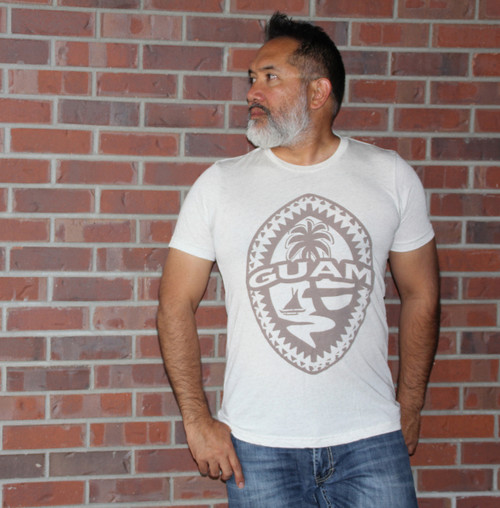 Tribal Guam Seal Oatmeal Triblend T-Shirt