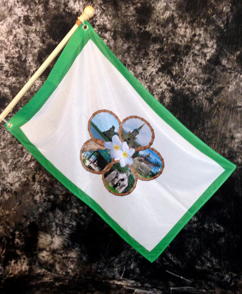 Inarajan Village Flag, Guam - 2x3 Foot (Flagpole not included)