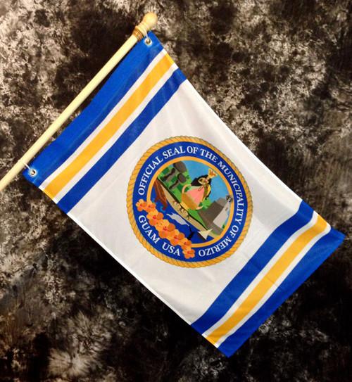 Merizo Village Flag, Guam - 2x3 Foot (Flagpole not included)