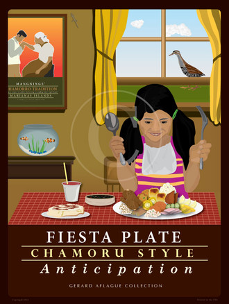 Fiesta Plate - Chamoru Style - Anticipation - 18x24 inches