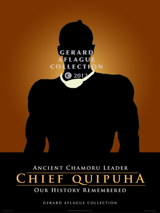 Chief Quipuha Fine-Art Giclee Poster Illustration - 18x24 inches