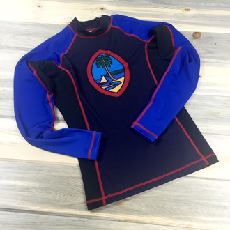 Unisex Modern Guam Seal Motif Sports Rash Guard Front