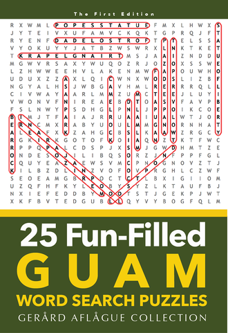 25 Guam Word Search Puzzles Book - Front Cover