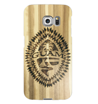 Burned Tribal Guam Seal Samsung Cover