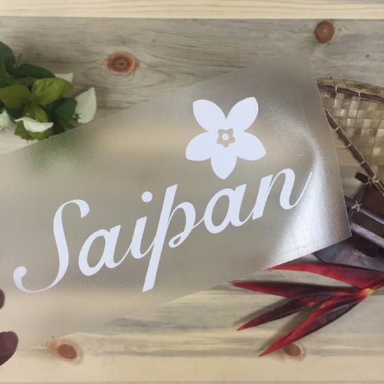 Saipan Plumeria Sticker Decal