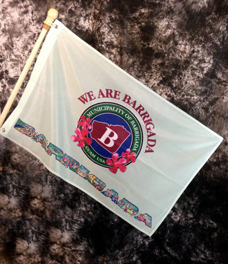 Barrigada Village Flag, Guam - 2x3 Foot (Flagpole not included)