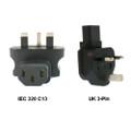 IEC 320-C13 to UK 3-Pin Power Adapter