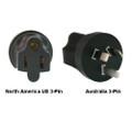 North America US 3-pin to Australia Power Adapter Plug