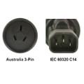 AU to IEC 60320 C14 Power Plug Adapter