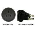 Australia to North America US 3-pin Power Adapter Plug