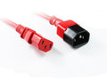 0.5M Red IEC C13 to C14 Power Cable