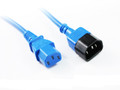 1.5M Blue IEC C13 to C14 Power Cable