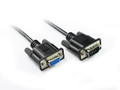 2M Black DB9 M/F Serial RS232 Cable