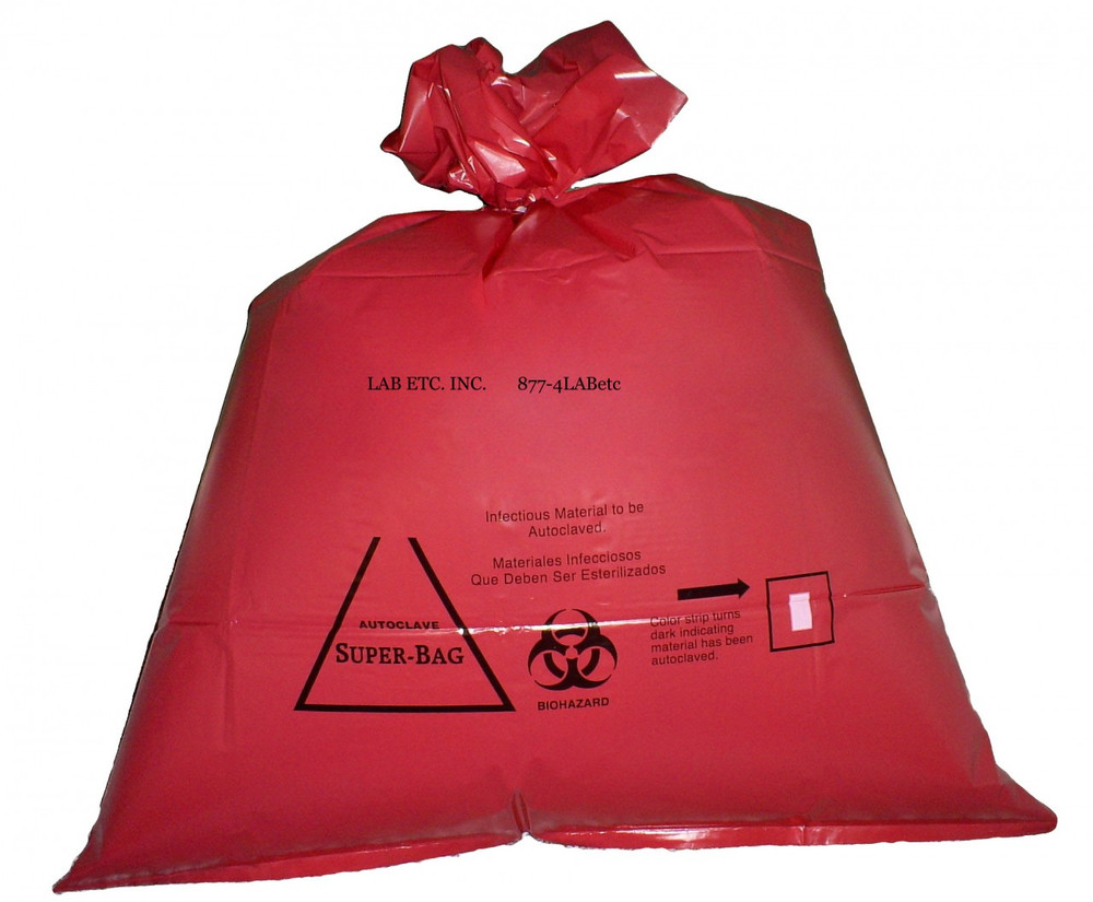 Red Biohazard Autoclave Bag W Indicator Lab Etc Inc Store