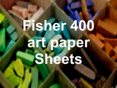 Fisher 400 Art Paper Sheets 12x12